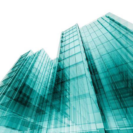rascacielos de 3D. Mi proyecto arquitectónico de concepto personal