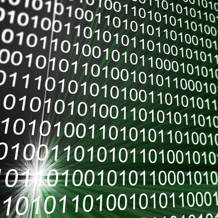 Binary matrix array. High resolution 3d render Stock Photo - 7461467