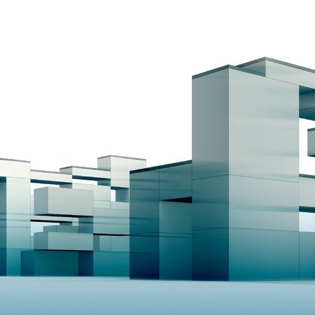 3d render minimalism and constructivism style building photo