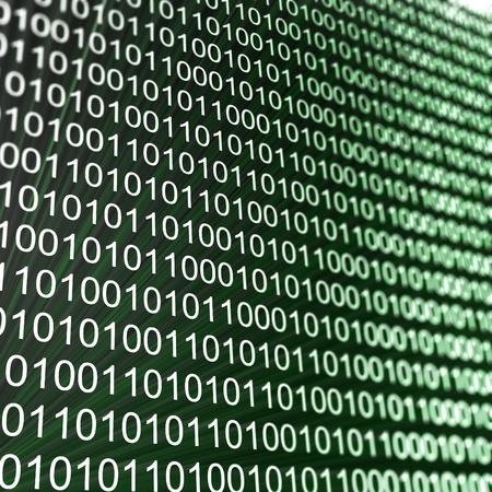 Binary matrix array. High resolution 3d render Stock Photo - 8228567