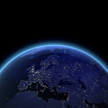 Europe night view.  photo