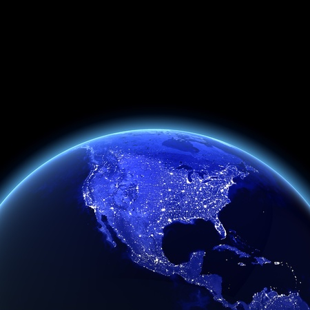 . Maps from NASA imagery Stock Photo - 8228578