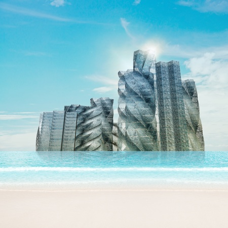 copyrights: Water city. No copyrights - my concept project, not real building