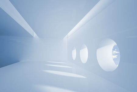copyrights: Interior in business colors. No copyrights - my concept project, not real interior Stock Photo