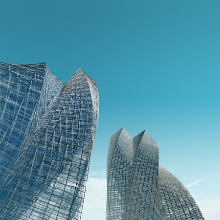 copyrights: Skyscrapers. No copyrights - my concept project, not real building Stock Photo