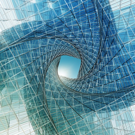 structures: Abstract tunnel. High resolution 3d render Stock Photo