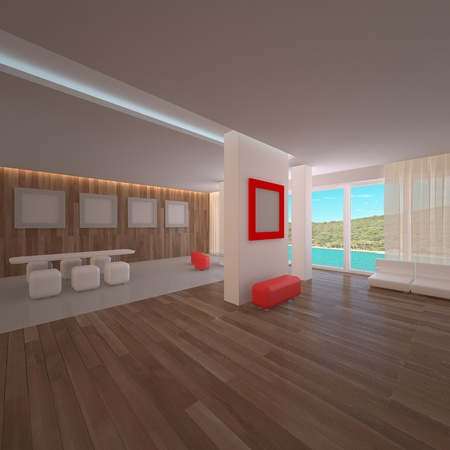 Penthouse interior. Concept modern project Stock Photo - 8455717