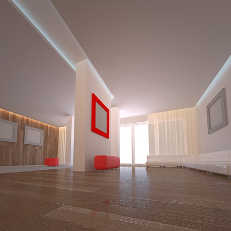 Modern hotel. No copyrights, my design project photo