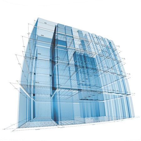 copyrights: Building engineering. No copyrights, my architecture project Stock Photo