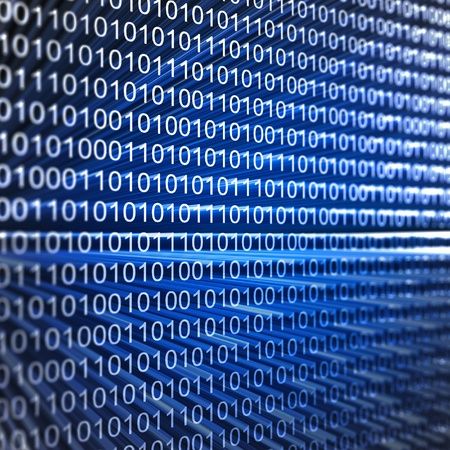 Binary code. 3d render image Stock Photo - 8712637