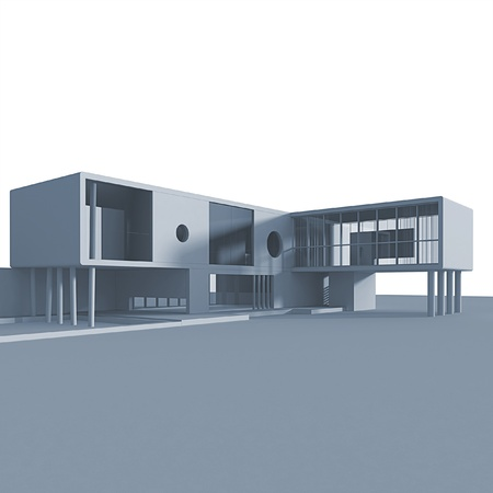 functionalism: Concept building. Isolated high quality 3d render