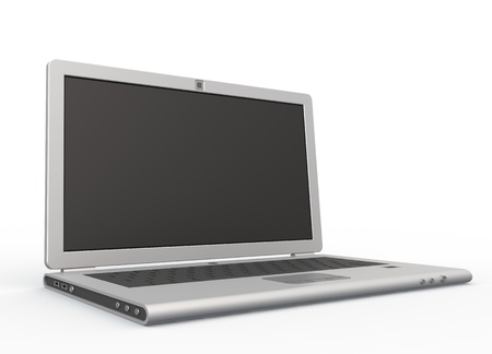 powerbook: Laptop. 3d isolated on white Stock Photo