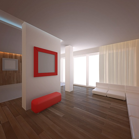 Modern loft.  Stock Photo - 8774711