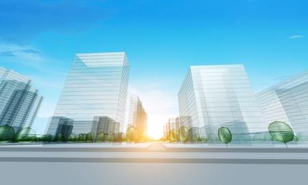 Modern city. Modern real estate