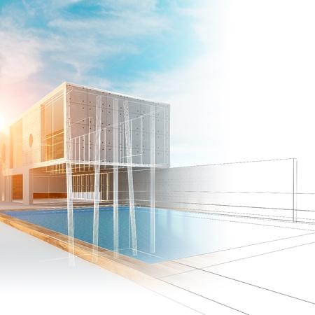 buildings on water: Construcci�n de la casa de campo. Dise�o de construcci�n al aire libre