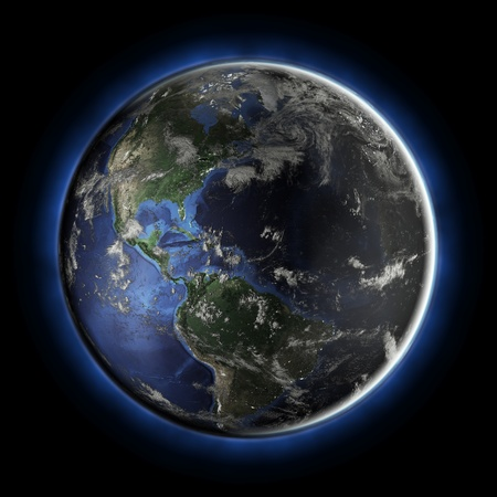America from space. Earth map from NASA Stock Photo - 9154065