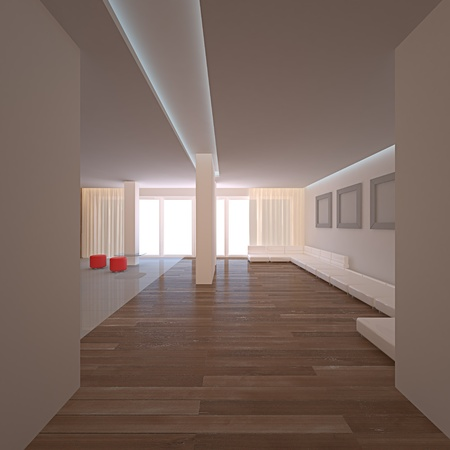 loft apartment: Simple room. No copyrights, my design project