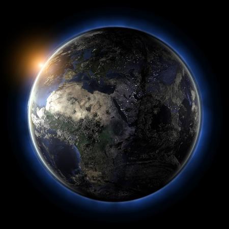 earth planet: Globe. Earth map from NASA