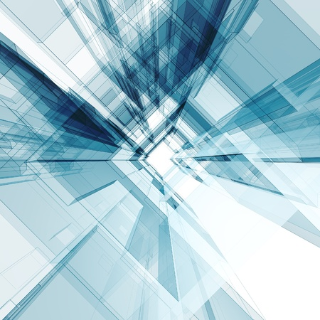 Abstract architecture background. 3d render photo