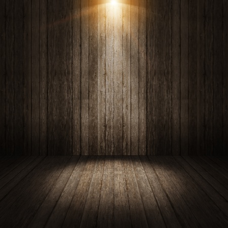 wood textures: Ray light on wall vintage background Stock Photo