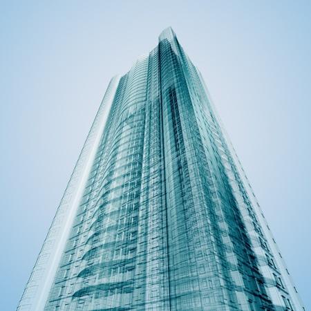 Business building. Abstracte 3d render Stockfoto