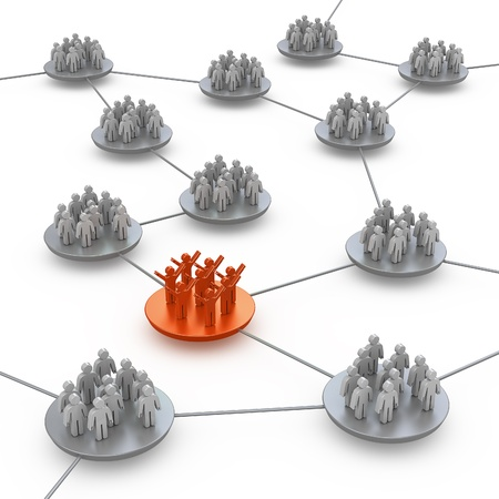 Teams connection. White isolated 3d Stock Photo - 10338065