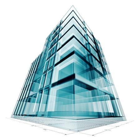 edificio: Proyecto de construcci�n. Render 3d de alta resoluci�n Foto de archivo