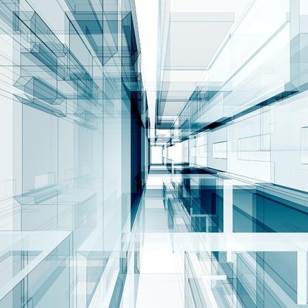 futuristic city: Concept interior. Abstract architecture background