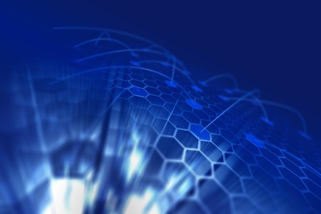 Hexagon display. Technology 3d render Stock Photo - 10529872