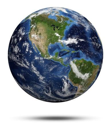 the globe: Ciclone America. Terra globo 3d rendering, mappe per gentile concessione della NASA Archivio Fotografico
