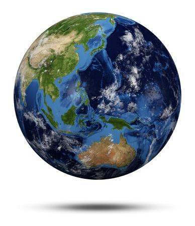 courtoisie: Plan�te Terre. Globe terrestre en 3D rendent, cartes de courtoisie de la NASA