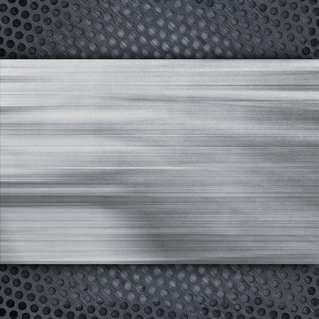 Metal panel. 3d render texture photo