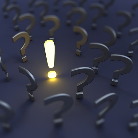 asking question: Questions and answer. 3d render image