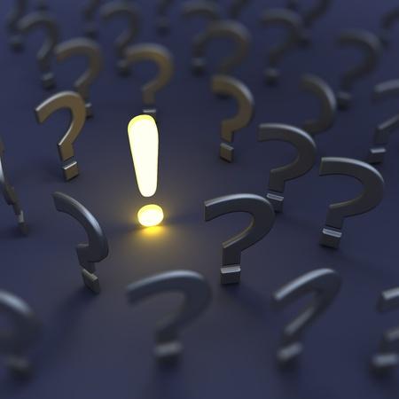 Questions et réponses. 3D render d'image