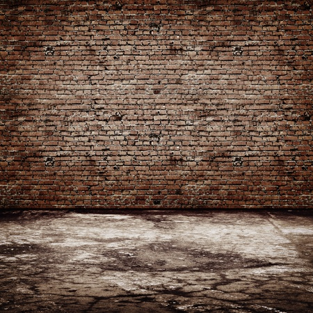 ancient brick wall: Vintage room. All textures my own
