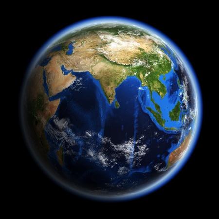 globe asia: Planet Earth. Earth space model, maps courtesy of NASA Stock Photo