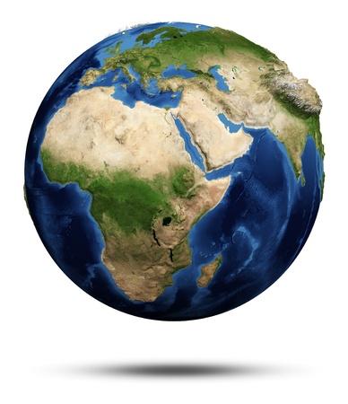 a courtesy: Planet Earth. Earth globe 3d render, maps courtesy of NASA