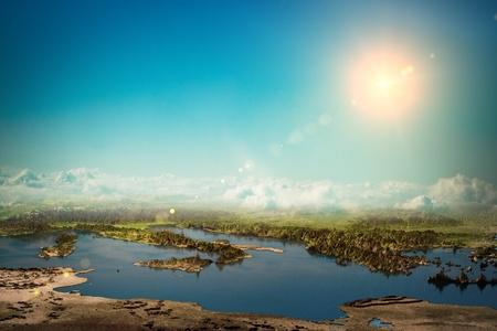 courtoisie: L'Europe m�diterran�enne. Cartes Courtoisie de la NASA. Ciel et l'eau moi-m�me