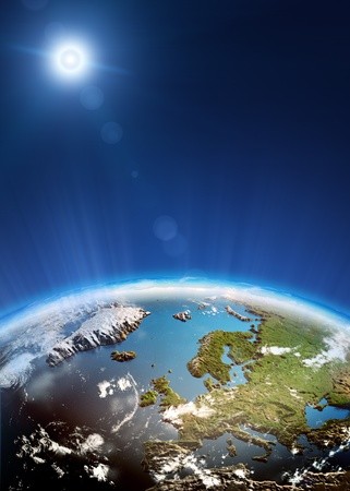 Europe from space. photo