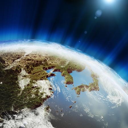 Japan  Earth globe model photo