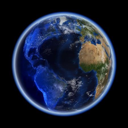 atlantic city: Transatlantic  Earth space model