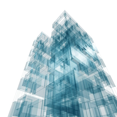 skyscraper: Abstract building  Architecture design and model my own Stock Photo