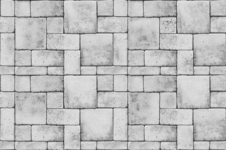 Seamless grey blocks. Floor texture photo