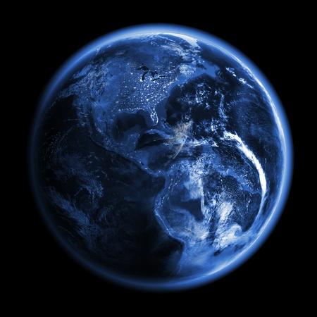 courtoisie: Am�rique du rendu 3d mod�le de l'espace terrestre, des cartes de courtoisie de la NASA Banque d'images