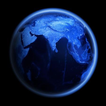 Planet Earth  Earth space model, maps courtesy of NASA