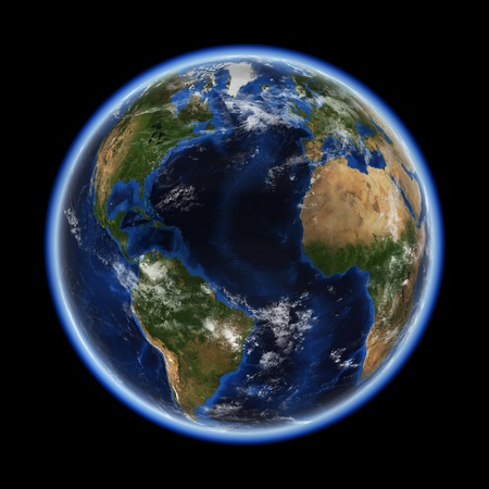 a courtesy: Atlantic  Earth space model, maps courtesy of NASA