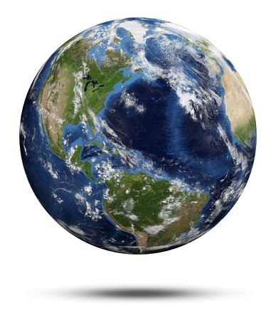 Planet Earth  Earth globe 3d render, maps courtesy of NASA Imagens