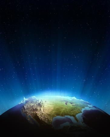 Elementi di rilievo del Nord, America reali di questa immagine fornita dalla NASA