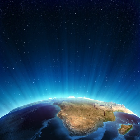 south space: South africa real relief  Elements of this image furnished by NASA Stock Photo
