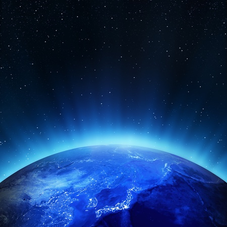 Giappone luci della città. Gli elementi di questa immagine fornita dalla NASA Archivio Fotografico - 15307146